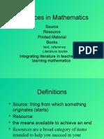 W1 Printed Material