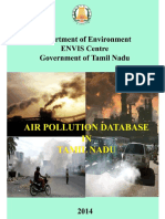 Air Pollution Database for Tamil Nadu - 2014