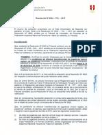 Resolución NRO 0024 – TCL–2017 Universitario Aclaración
