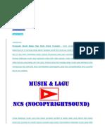 Kumpulan Musik Bebas Hak Cipta Untuk Youtuber