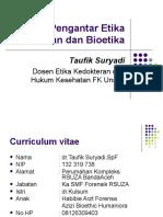 Pengantar Etika Kedokteran Dan Bioetika