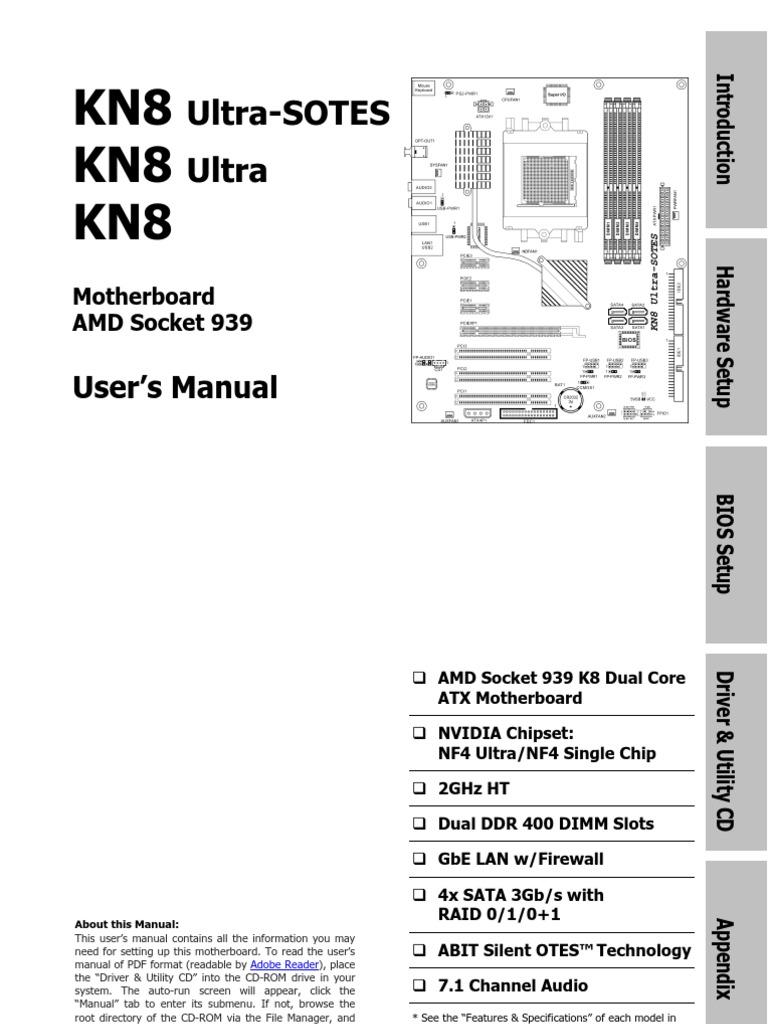 abit kn8 series user s manual bios dynamic random access memory rh scribd com User Guide Template User Guide Template