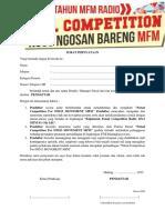 Surat Pernyataan Peserta Futsal Ind13 Movement Mfm