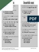 LanguageCountable and Uncountable Nouns(1)