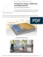 What is Floor Screed_ Its Types, Materials, Construction and Uses