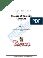 Finance of Strategic Decisions