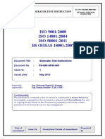 PH IMS SP08 WI01Generator Test