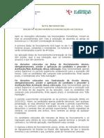 Nota Informativa - Bolsa de Recrutamento_Contratação de Escola; 2010.set.01