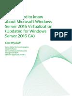 Windows Server 2016 Virtualization