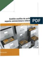 Gestion Auxiliar de Archivo en Soporte Convencional o Informatico