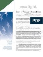 Spotlight 397 Costs of Nuclear vs. Solar