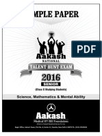 2016 Aakash Anthe Junior Sample Paper Class10