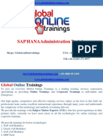 SAP HANA Administration Training | SAP HANA ADMIN online Training