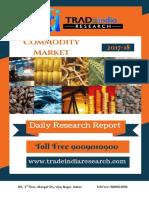 Daily Commodity Predictiomn Report by TradeIndia Research 20-12-2017