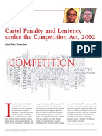 Cartel Penalty and Leniency under the Competition Act, 2002