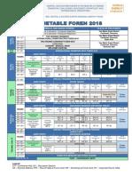 Timetable FOREN2018