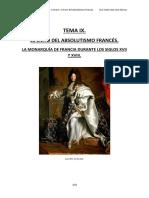 El Exito Del Absolutismo Frances. La Monarquia de Francia en Los Siglos XVII y XVIII.