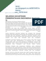 Sejarah Perkembangan Akuntansi Pemerintahan
