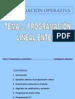 3. Programación Lineal Entera
