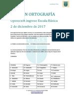 Examen ORtografia y Conocimientos Policia NAcional 2017