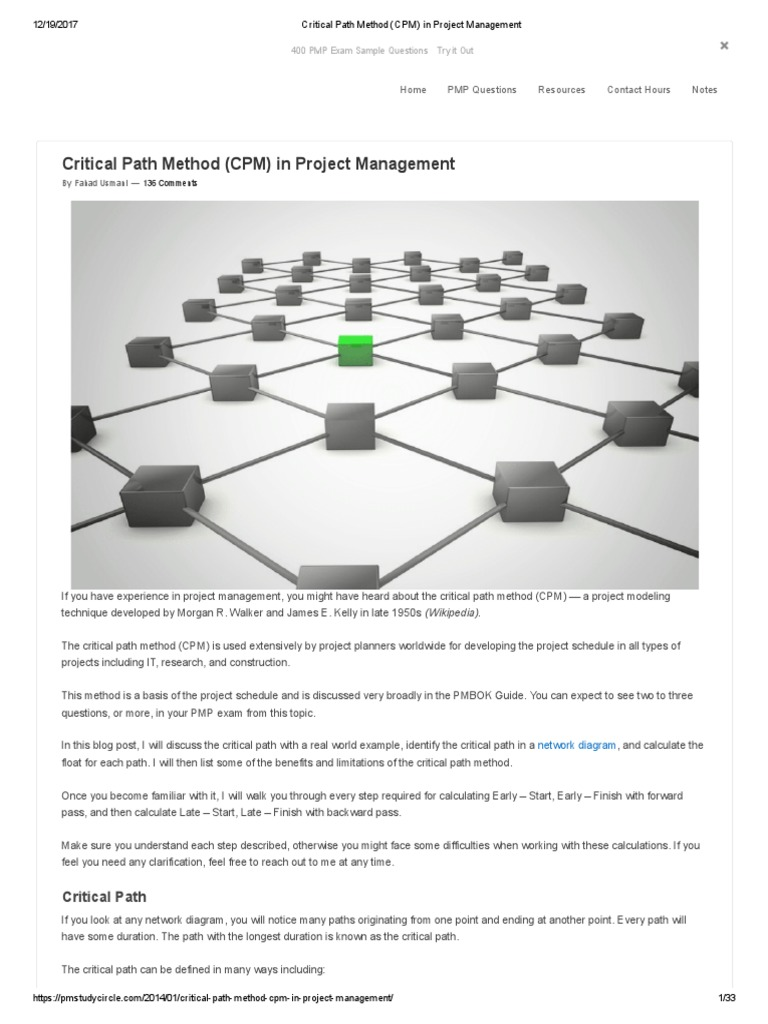 Critical path method cpm in project management product critical path method cpm in project management product development industries xflitez Gallery