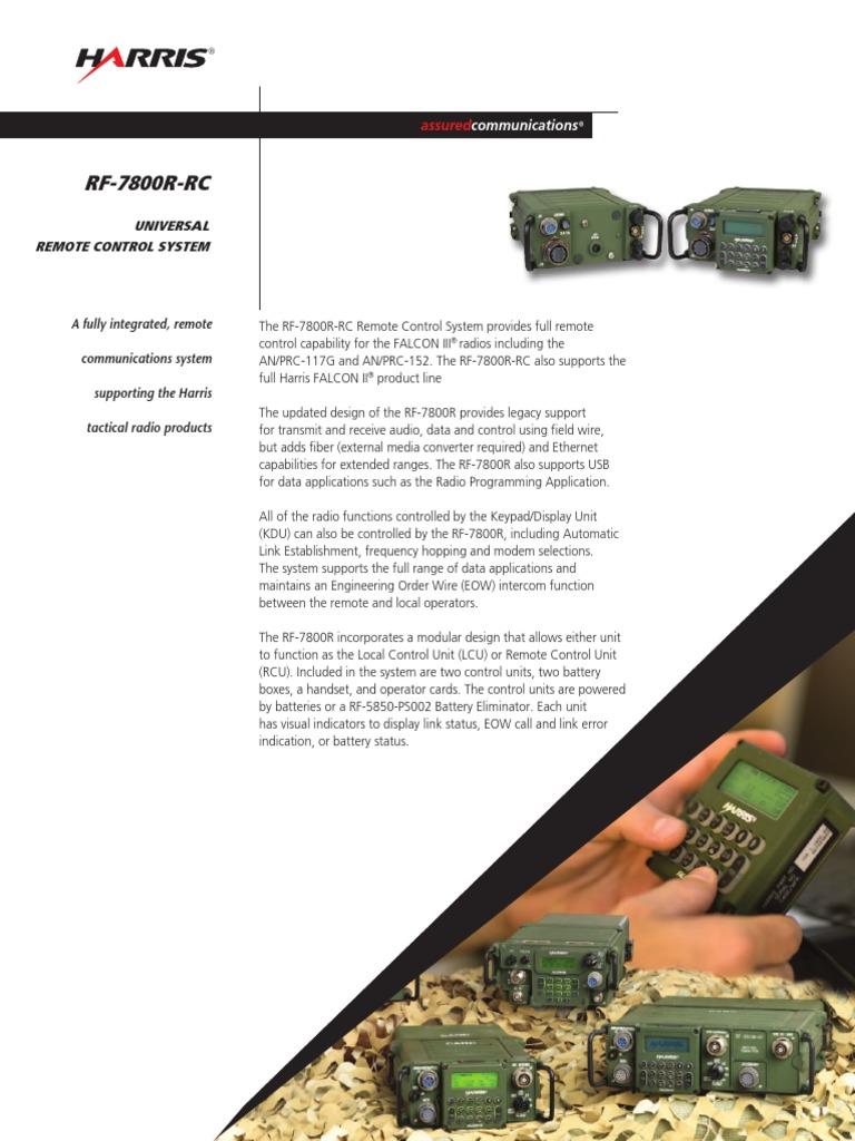 rf 7800r rc universal remote control system tcm26 12078 remote rh scribd com Harris RF 7800W harris 7800w user manual