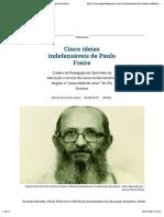 Cinco ideias indefensáveis de Paulo Freire | Gazeta do Povo