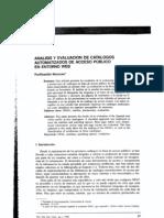 Analisis y Evaluacion de Catalogos [Moscoso]