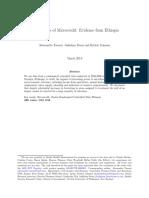 Microcredits Ethiopia