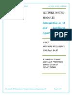 ECS302 AI Module I Notes