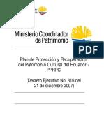 Plan de Cultura del Ecuador