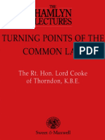 Turning Points of the Common Law