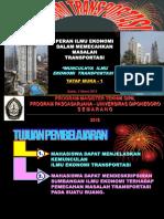 Pertemuan-1 Ekonomi Transport (Munculnya Ilmu Ekonomi Transport)