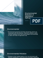 Environmental Pollution in Petroleum Refineries