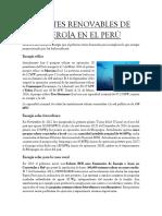 Fuentes Renovables de Energía en El Perú