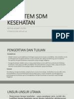 SUBSISTEM SDM KESEHATAN