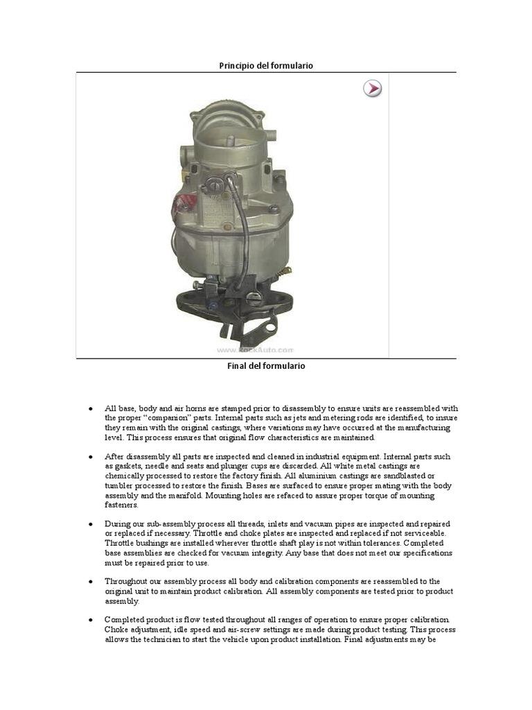 Carburadores Chevrolet Throttle Carburetor Honda Bf130 Wiring Diagram