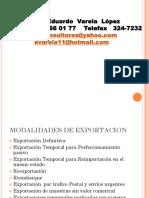 Modalidades de Exportacion e Importacion