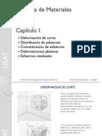Capítulo I - Deformacion de Corte-Distribucion y Concentracion de Esfuerzos
