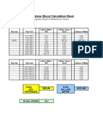 Glycol Calculation Sheet