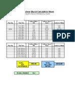 Glycol Calculation Sheet