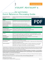 Quick Reference Processing Guidelines- RO4700 Antenna Grade Laminates