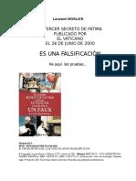 Fatima, 3er Secreto Es Una Falsificacion - Laurent Morlier