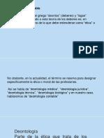VALORES Deontologia