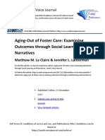 "PREVIEW Matthew Le Claire & Jennifer Lanterman (2017) ""Aging-Out of Foster Care"