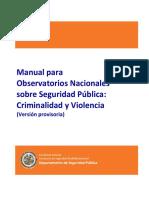 Manual Para Observatorios Nacionales Sobre Seguridad Publica OEA