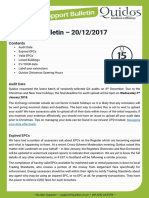 Quidos Technical Bulletin - 20/12/2017