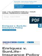 01 Enriquez v. SunLife- Insurance Policy