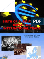 EURO Birth and Impact on Int Trade