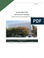 Demolition Management Plan (Gordon Wilson)